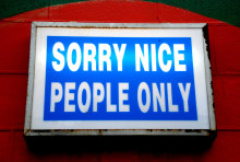 Grafik: Nice People only - (c) FlickR/geoftheref