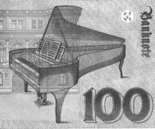 Grafik: Flügel auf Hundert-DM-Banknote