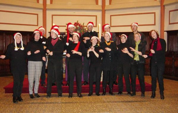 "Cappella Vocale Neuwied singt ""Santa Claus is coming to town"""